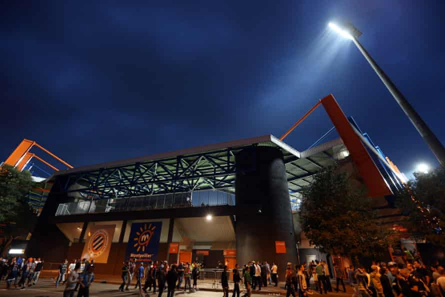 A general view of the stadium before the Champions League match between Montpellier and Arsenal on 18 September 2012.