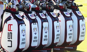 Team USA bags before the 2018 Ryder Cup. Golf bags are among the consumer goods to have a 25% tariff.