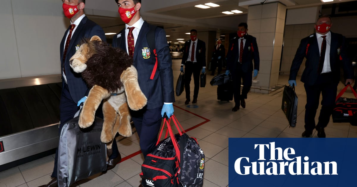 Lions arrive in South Africa but rising Covid rates threaten tour plans