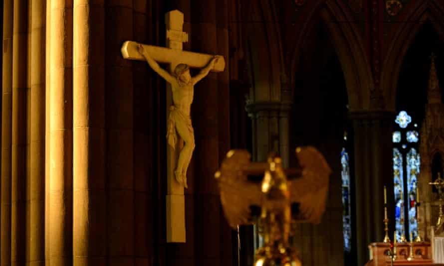 cross in a church