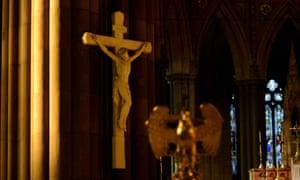 A crucifix in St Patricks Cathedral in Melbourne.
