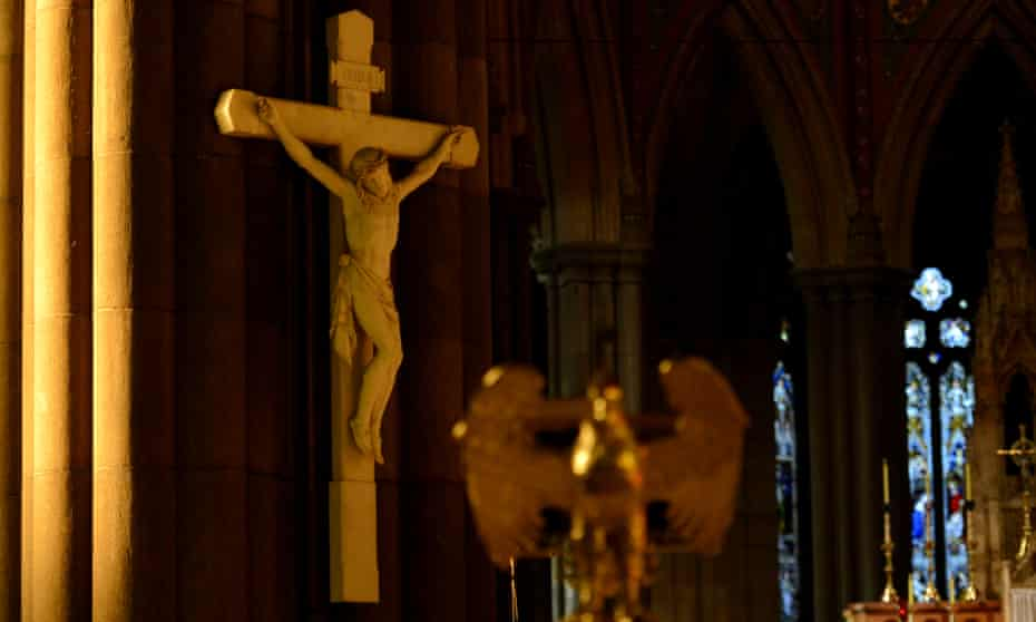 A crucifix in a Catholic church
