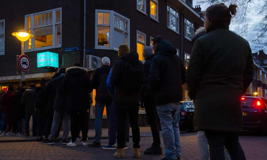 A queue to buy lockdown supplies of marijuana at an Amsterdam coffee shop last month is evidence of the power of drug cartels.