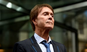 Sir Cliff Richard after winning his privacy case against the BBC.