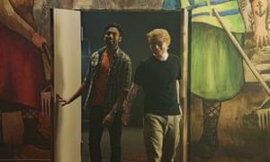 Himesh Patel with Ed Sheeran in Yesterday