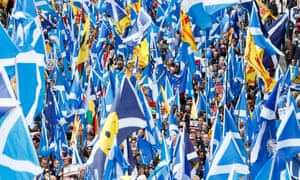 The All Under One Banner independence march in Glasgow last month.