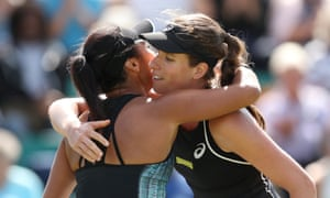 Johanna Konta and Heather Watson met for the second time on then on the WTA Tour and, just as at Indian Wells the British No 1 came out on top.