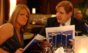 When social anxiety is on the menu: Sally Lindsay and Peter Kay in a 2004 edition of Coronation Street.
