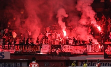 Official 'Jakmania' supporters are swelled by thousands of unofficial Persija fans.