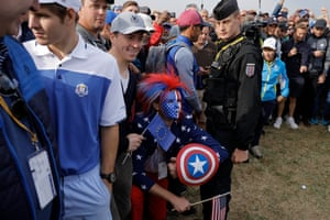 That shield might come in handy when Brooks Koepka is teeing off