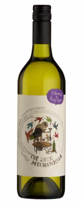 The Rude Mechanicals Ephemera Viognier/Pinot Gris 2016 bottle  drink with Asian chicken salad