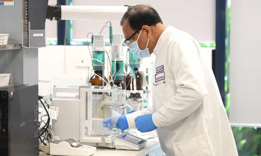 A general view of an analytical chemist at AstraZeneca headquarters in Sydney
