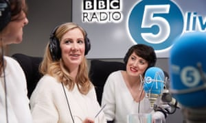 The BBC Radio 5 Live newsreader Rachael Bland, centre, with fellow hosts of the You, Me and the Big C podcast Deborah James, left, and Lauren Mahon.