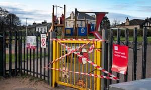 A closed children's playground in Edinburgh