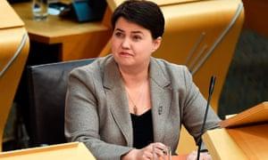Ruth Davidson, the Scottish Conservative leader.