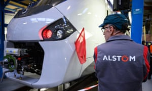 A worker at the Alstom factory in Reichshoffen, France.