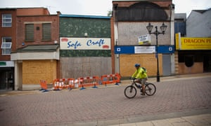Boarded-up shops in Rotherham in 2009