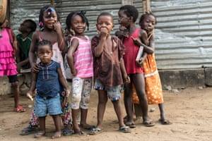 Children play in Robertsport, Liberia