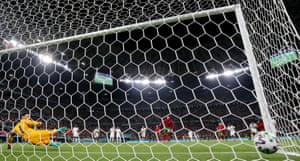 Portugal's Cristiano Ronaldo bangs in his second penalty of the night.