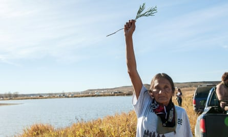 Native American protesters say the pipeline is threatening indigenous cultural heritage.