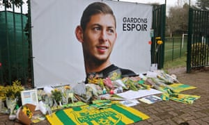 Tributes to Argentinian football player Emiliano Sala in Nantes, France.