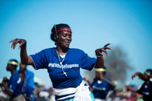 Chipinge, ZimbabweRefugees perform a traditional Muchongoyo dance during belated World Refugee Day commemorations at Tongogara refugee camp. The camp has seen its population of refugees from several African countries rise from an average of 3,000 in previous years to 10,000, according to media reports