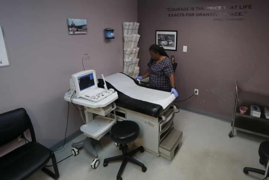 The operating room at the Whole Woman's Health clinic in Fort Worth, Texas. On 30 March the fifth circuit court of appeals reinstated the state's executive order to restrict abortions during the pandemic.