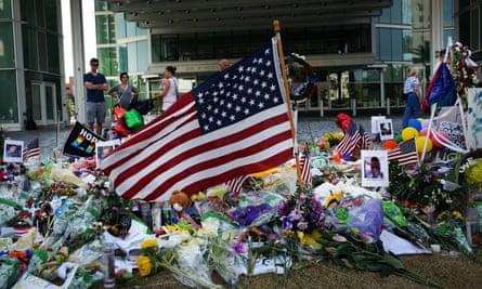 A memorial close to the Pulse nightclub in Orlando, Florida.