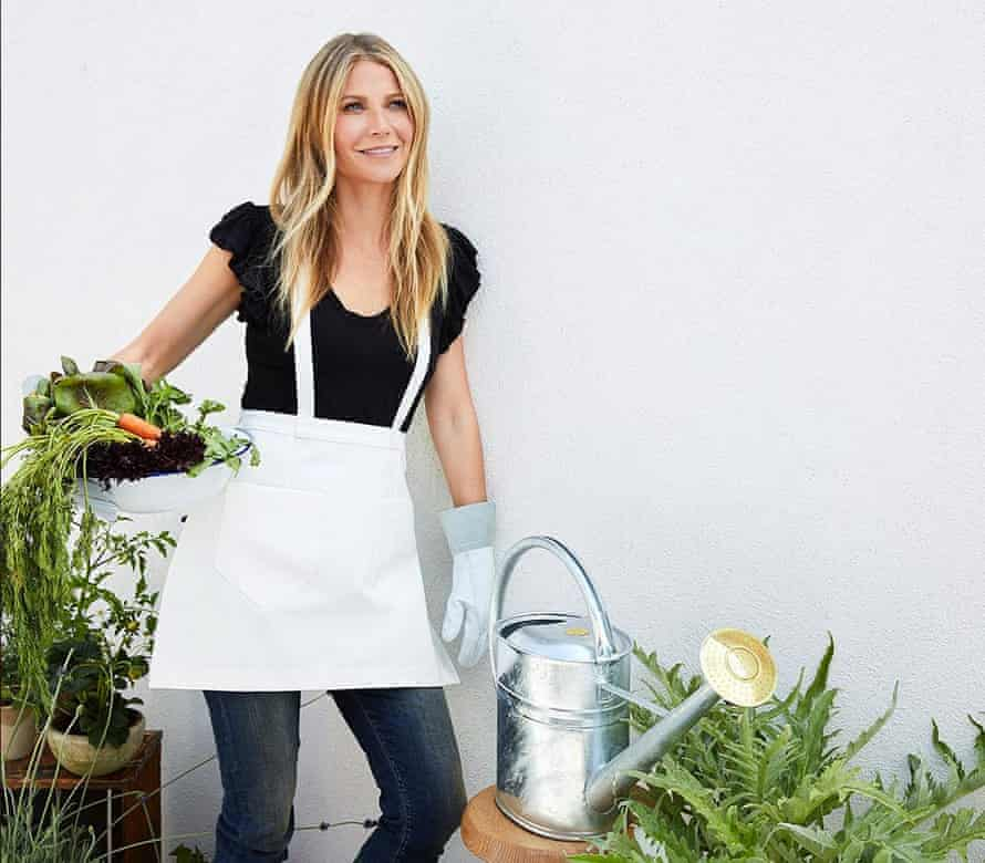 Gwyneth Paltrow with a $120 watering can. (And she wonders why people hate her.)