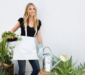 Gwyneth Paltrow with her $120 watering can