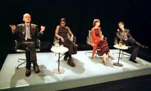 Alan Williams, Sharon Duncan-Brewster, Ingrid Craigie and Paul Thomas Hickey in Crave at the Traverse, Edinburgh, in 1998.