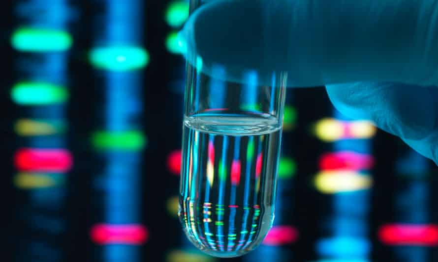 DNA and test tube