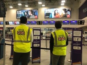UK government officials at Birmingham Airport, March 05 2020