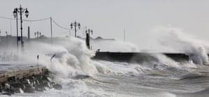 Storm Imogen hits Southsea, Hampshire