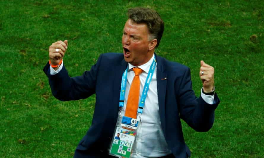 Louis van Gaal pictured at the 2014 World Cup during one of his previous spells as manager of the Netherlands.