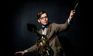 Steven Clare dressed as Matt Smith's Doctor Who, an incarnation lasting for three series