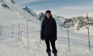 Tiffany Francis in Tignes.