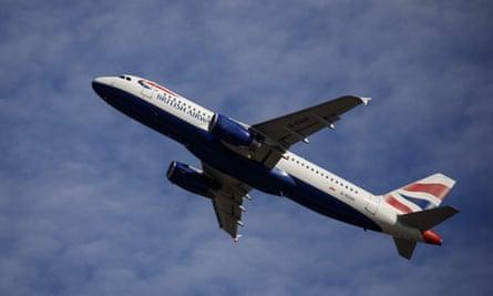 A British Airways aeroplane