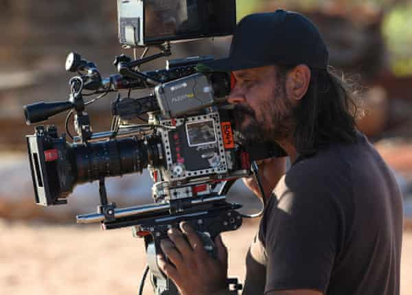Director Warwick Thornton on the set of Mystery Road 2.