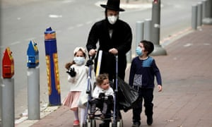 An ultra-Orthodox Jewish family in Bnei Brak.