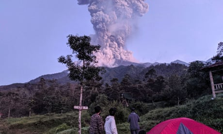Indonesia's most active volcano spews massive ash cloud 6,000m into the air