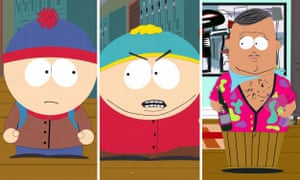 Tim Wilson's South Park heroes: Stan, Cartman and Big Gay Al from the TV series South Park.