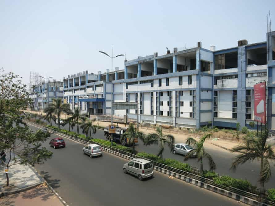 Mass rapid transit stations and boxy office buildings are an eyesore in Chennai.