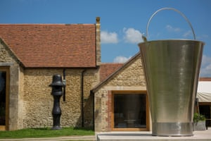Sculptures in the grounds of the Hauser & Wirth gallery at Bruton, Somerset.
