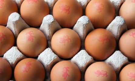 British eggs are stamped with a Lion mark.