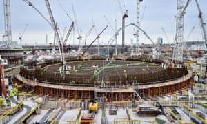The base of the first reactor at Hinkley Point C is prepared for the UK's biggest ever concrete pour.