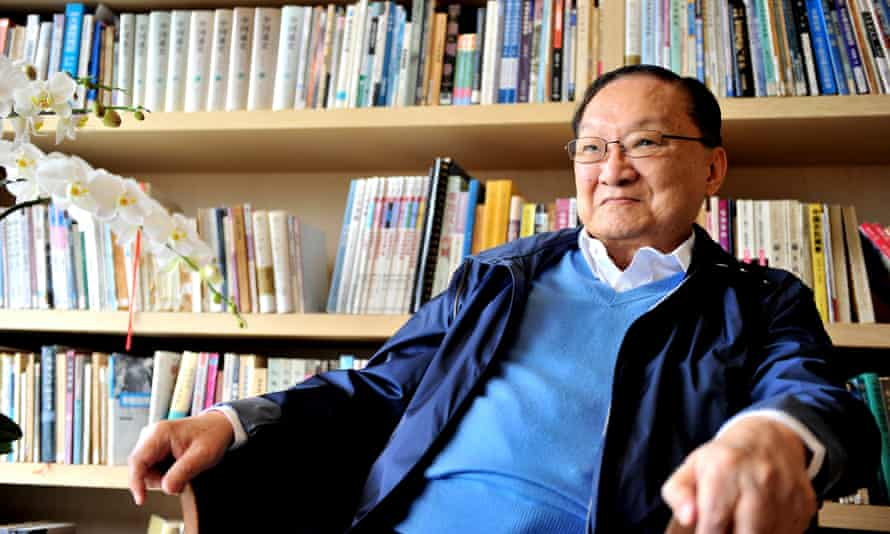 Jin Yong in 2011. His fiction was set in the historical milieu of medieval China in the years leading up to its conquest by the Mongol leader Kublai Khan