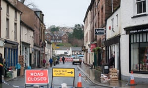 A clean-up operation in flooded Appleby, Cumbria.