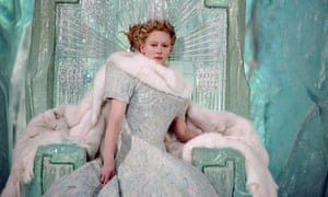 Tilda Swinton as the White Witch in the film of CS Lewis's The Lion, the Witch and the Wardrobe.