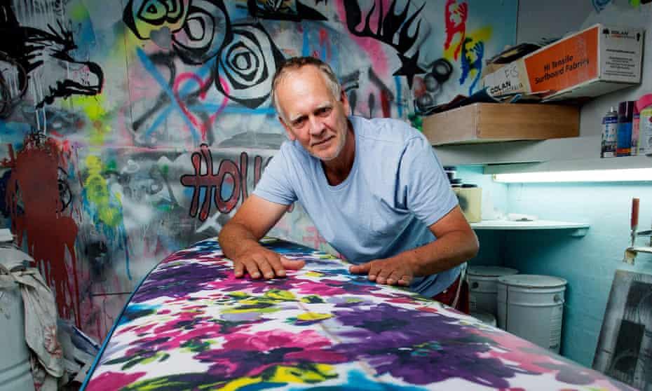 Andrew Stump in his workshop
